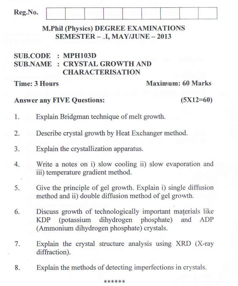 question paper 5 - Resume M Phil Computer Science