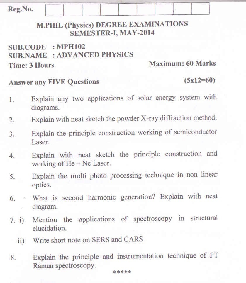 question paper 2 - Resume M Phil Computer Science